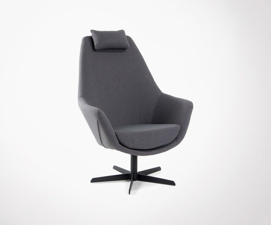 Relax Lounge Chair 360° Dark Grey Finish Beautiful Product