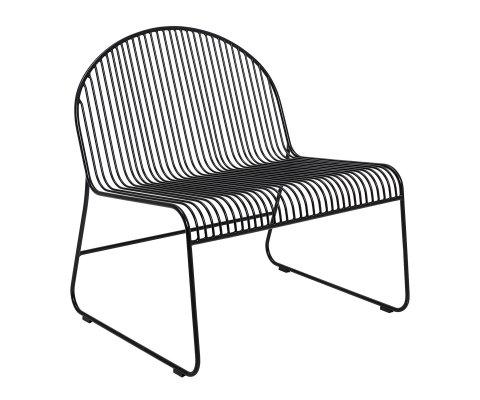 Chaise en métal style industriel noir CHIPIE