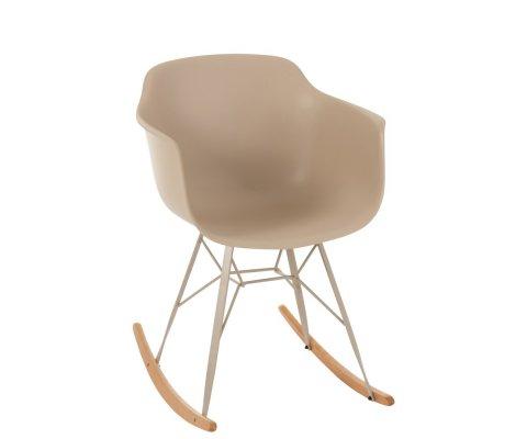 Chaise à bascule style scandinave crème BOMI