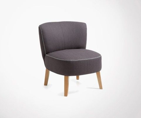 JIM Modern Look Wooden Legs Armchair