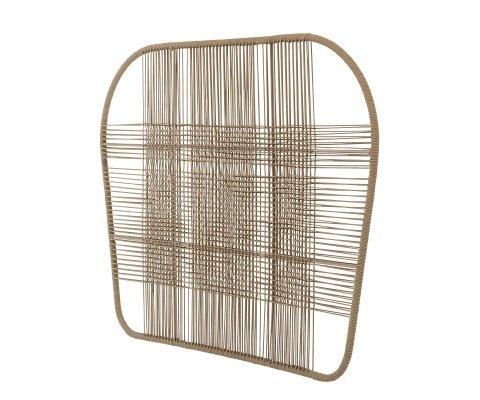 Tête de lit 130x180cm en métal marron MARCO