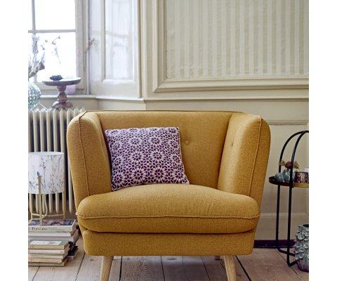 Fauteuil lounge rembourré orange PUMPKIN