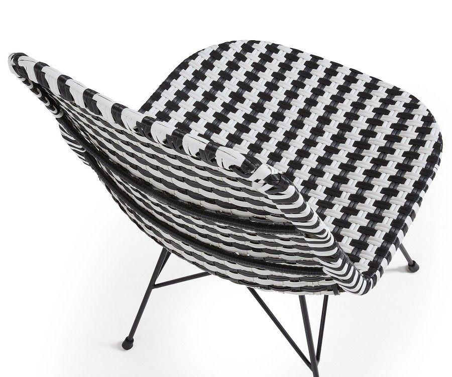 Chaise tissu pied de poule ATALA