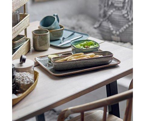 Table à manger rectangulaire 200x95 en bois et métal BERNADETTE
