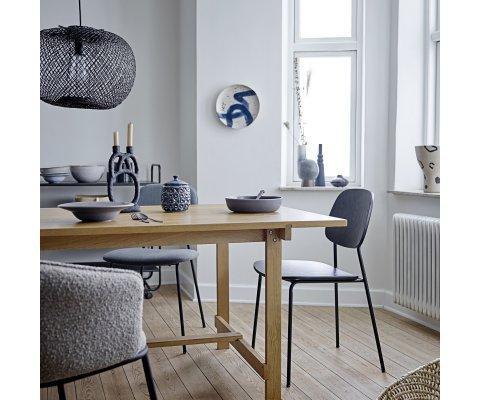 Table à manger rectangulaire en bois de chêne CECILE