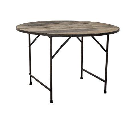 Table à manger ronde en bois et métal BILLIE