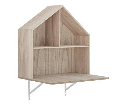 Bureau enfant à fixer en forme de maison en bois MESANGE