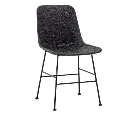 Chaise en rotin et métal RACHEL