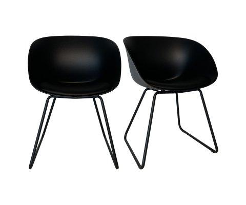 Lot de 2 chaises scandinave-POLA