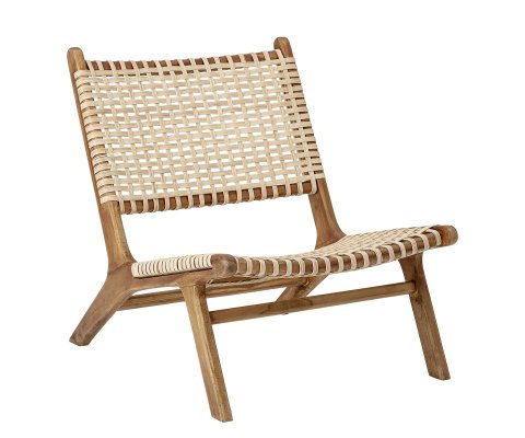 Chaise basse en teck naturel pliable KEILA