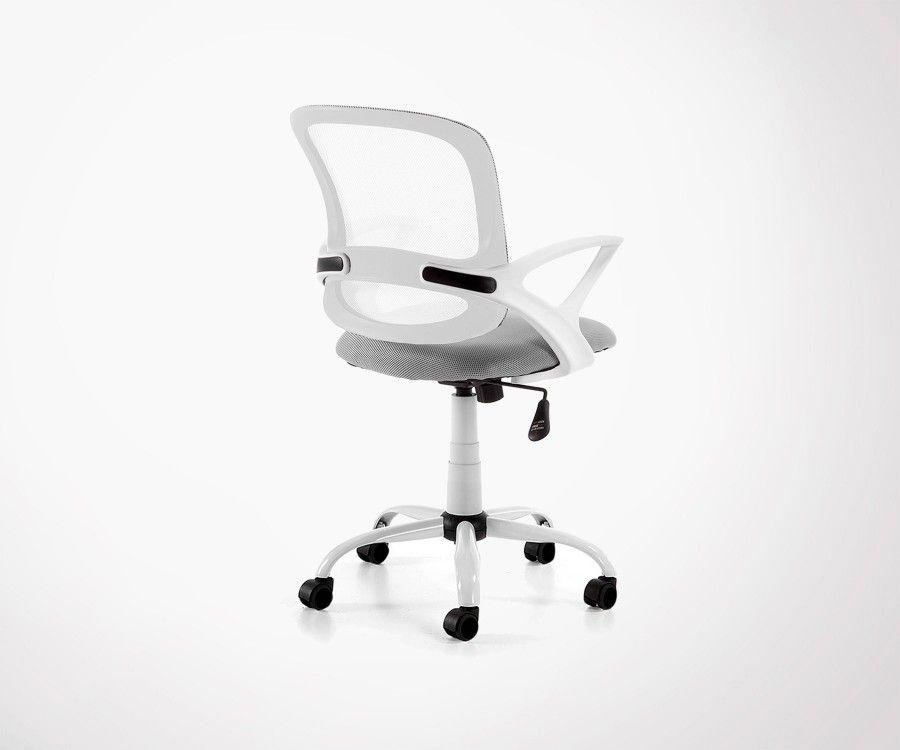 Chaise de bureau tissu design avec roulettes plusieurs coloris