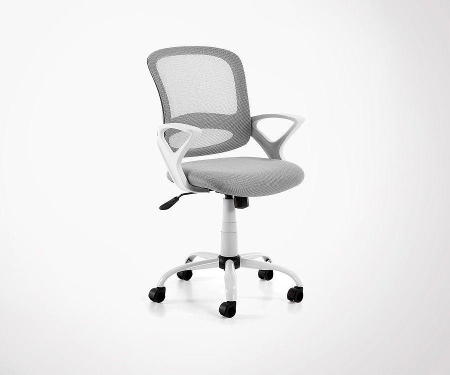 Chaise de bureau design tissu noir OPEN