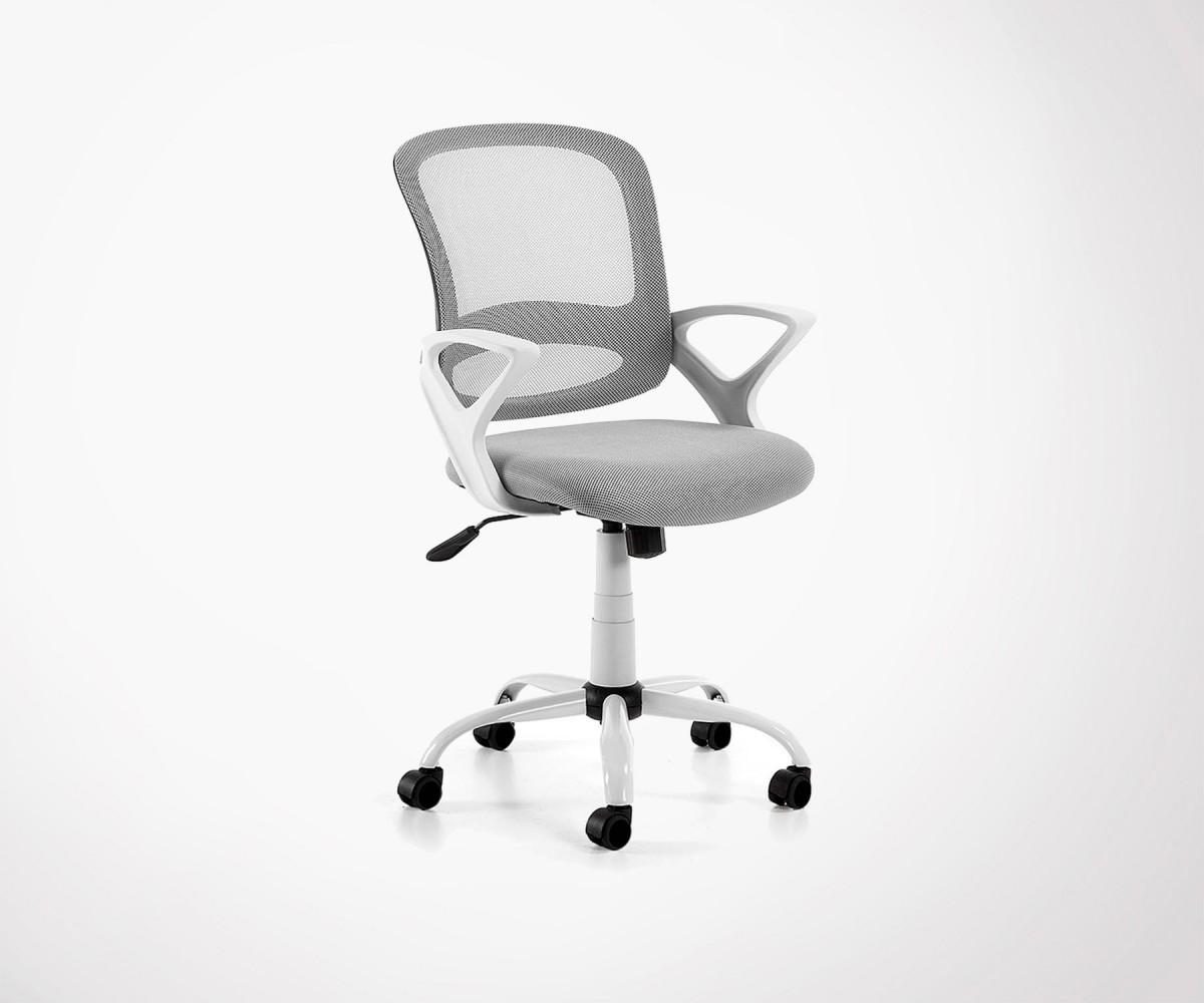 chaise de bureau tissu design avec roulettes plusieurs coloris. Black Bedroom Furniture Sets. Home Design Ideas