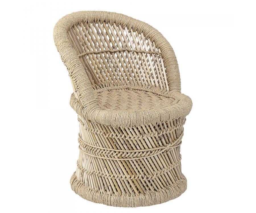 Chaise pour enfant en rotin naturel MAKOTO