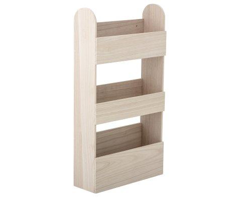 Étagère moderne 3 niveaux en bois de chêne MORIS