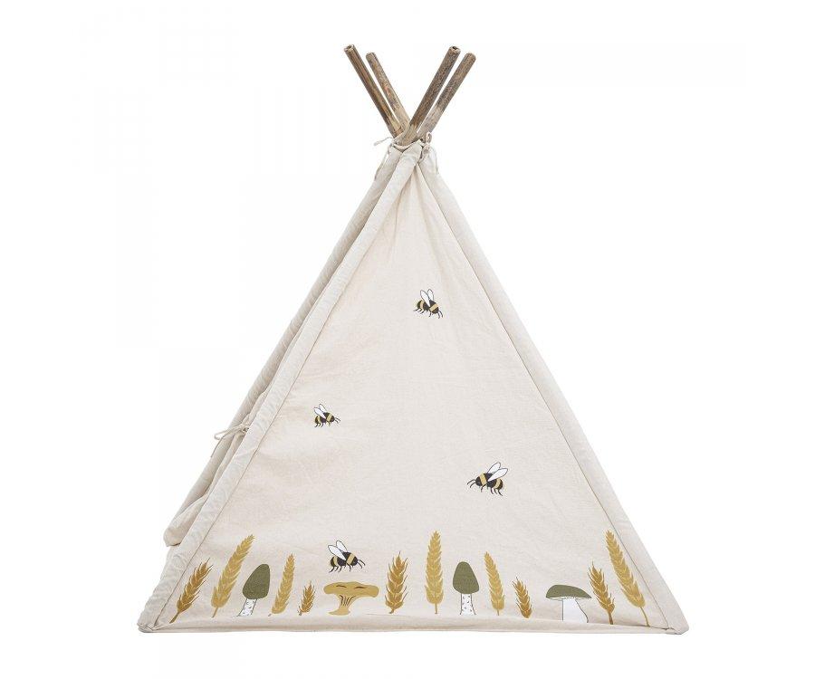 Tipi enfant en bois et tissu avec motifs MILLO