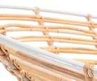 Fauteuil rotin design tissu beige MARTELL