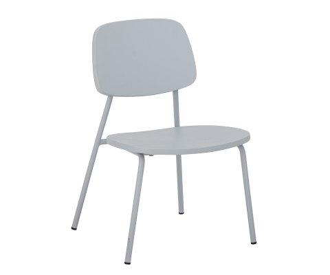 Chaise pour enfant design en bois et métal gris GUGGA