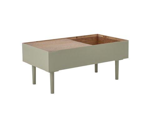 Table enfant avec rangements 90x40cm en bois vert FLAVIE