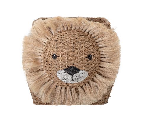 Rangement jouets 36x32x52cm en forme de lion en jacinthe d'eau HARISSON