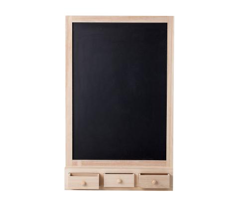 Tableau à craie avec tiroirs en bois HIGMA