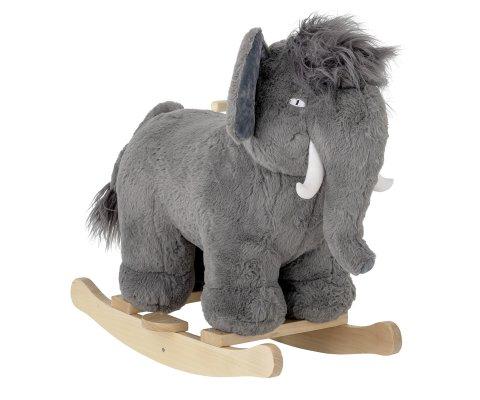 Éléphant à bascule en peluche gris ELEPHANTO
