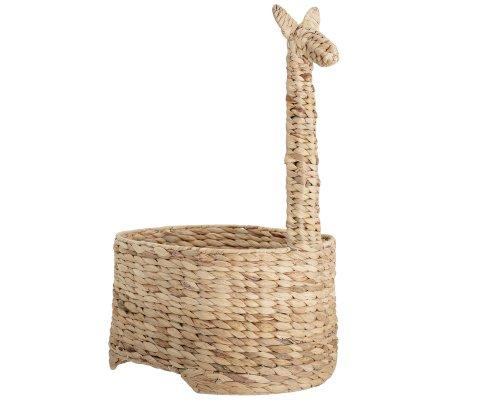 Rangement jouets forme girafe en jacinthe d'eau GIRAFETTE