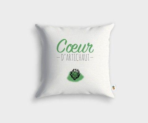 Coussin COEUR D'ARTICHAUT - 45x45cm
