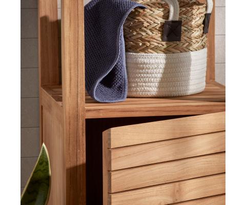 Étagère salle de bain en bois massif-SARA