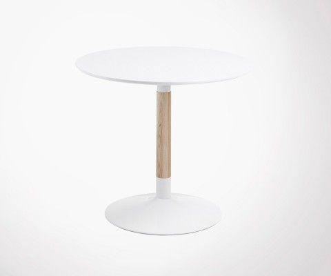 Table bois ronde design moderne TAC - 90cm