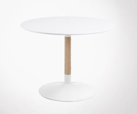 Table 110cm bois ronde design moderne TAC