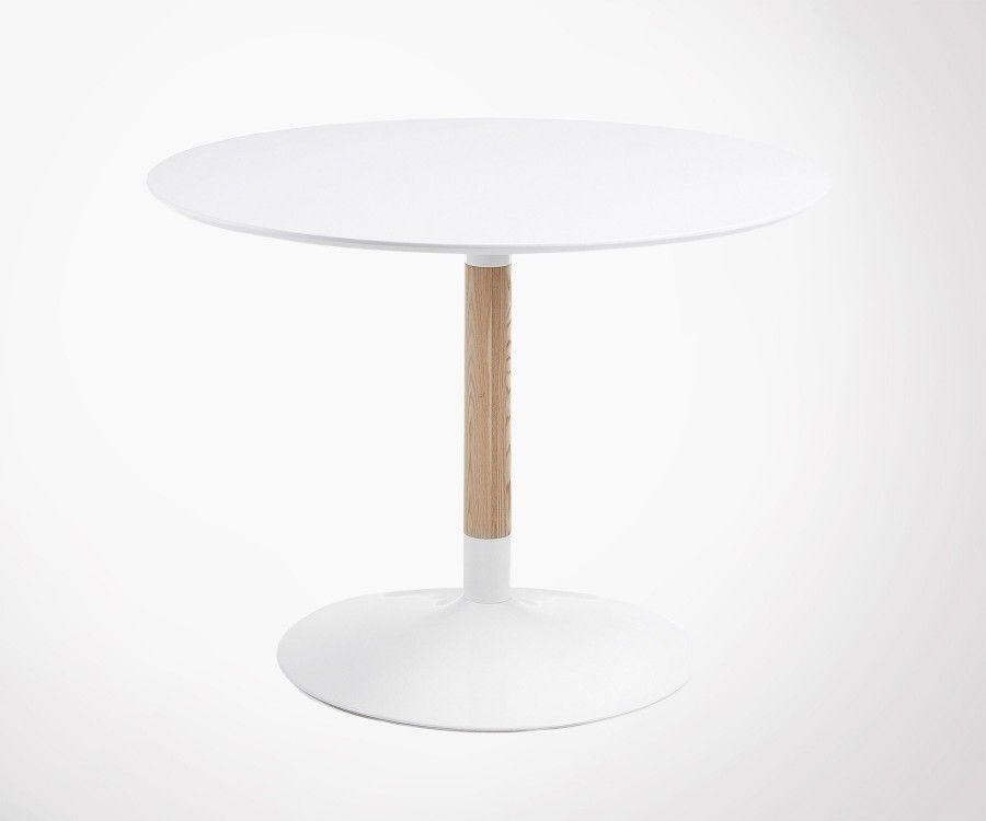 Table bois ronde design moderne TAC - 110cm