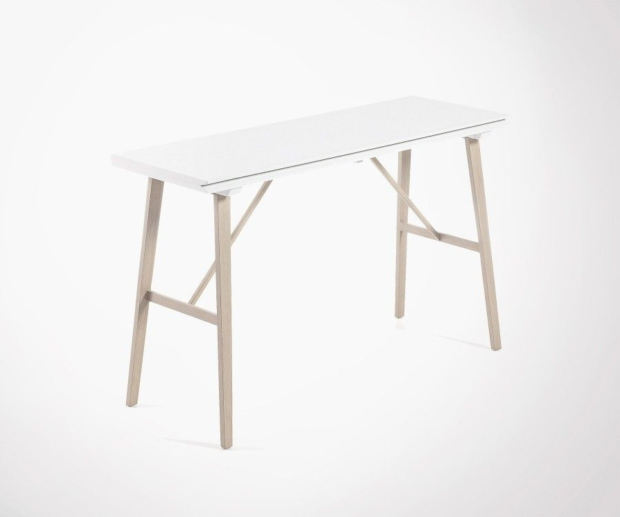 Console Etroite foldable dining table 130x45cm made of wood and iron