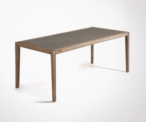SHEVY 200cm large dining table with cement top