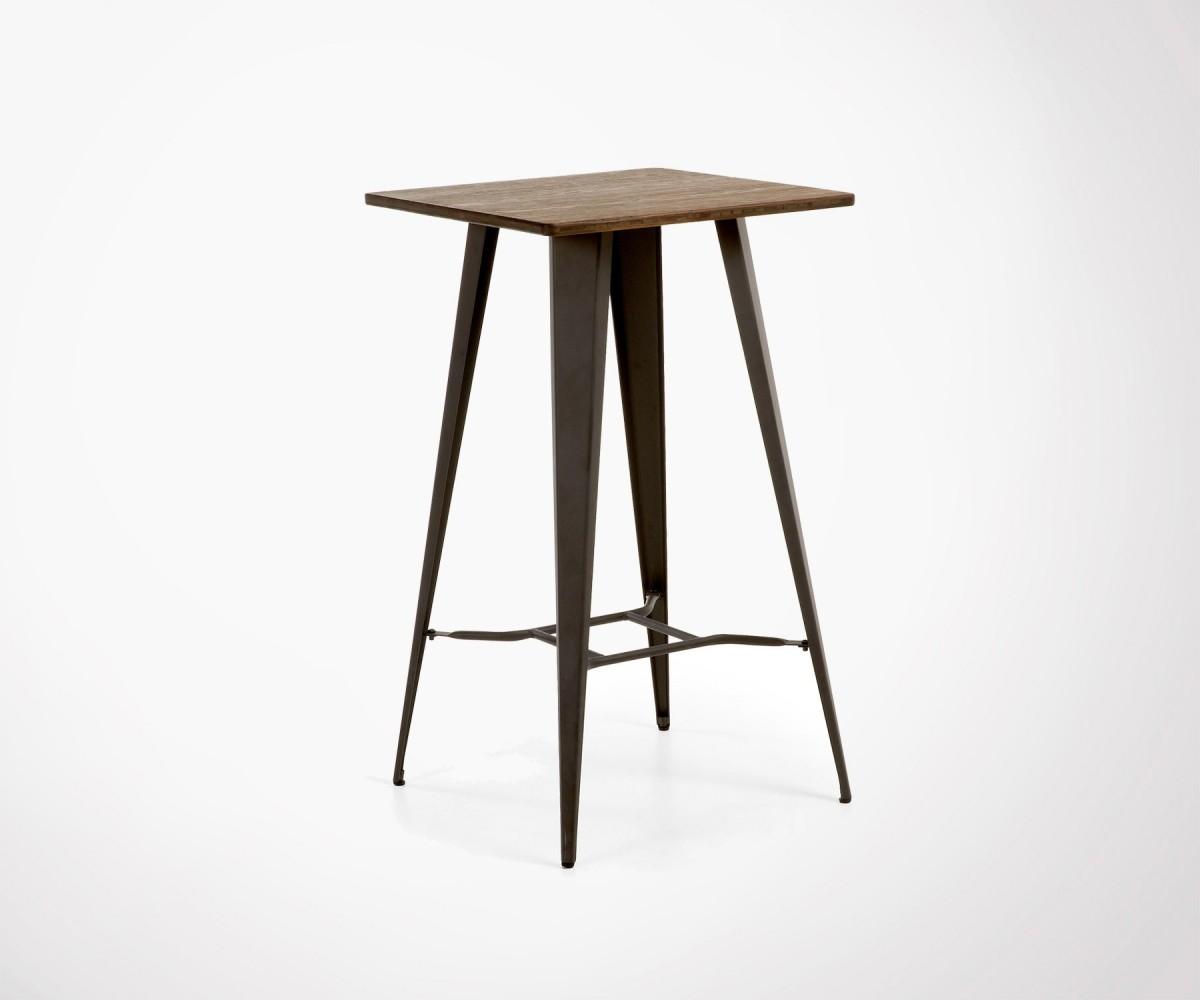 Table haute métal et bois. Style industriel. Intérieur et ...