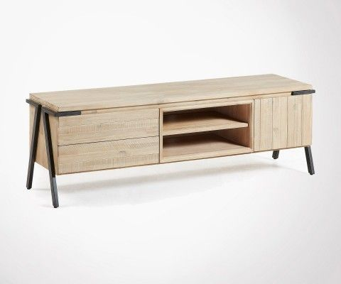 Meuble Tv métal bois moderne SIESTA - 165cm