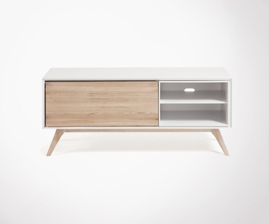 meuble tv design nordique 134cm d couvrir. Black Bedroom Furniture Sets. Home Design Ideas