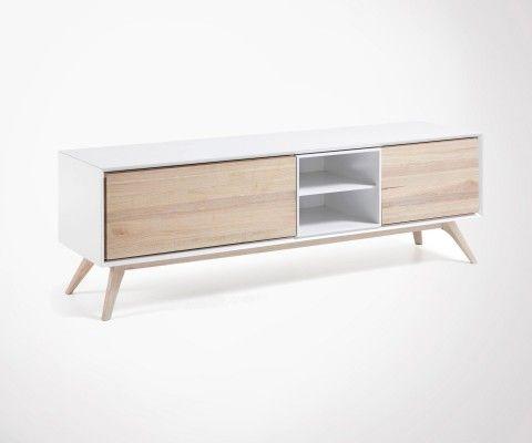 Meuble Tv design scandinave QUATRO - 174cm