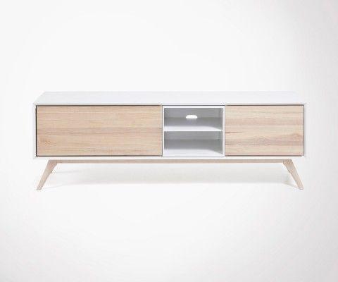 Meuble Tv 174cm design scandinave QUATRO
