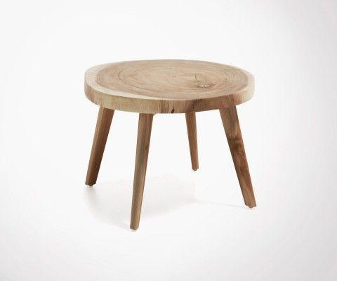 Table basse bois style bohème CRISTY - 65cm