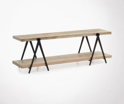 Meuble Tv métal bois industriel NARGOM - 160cm