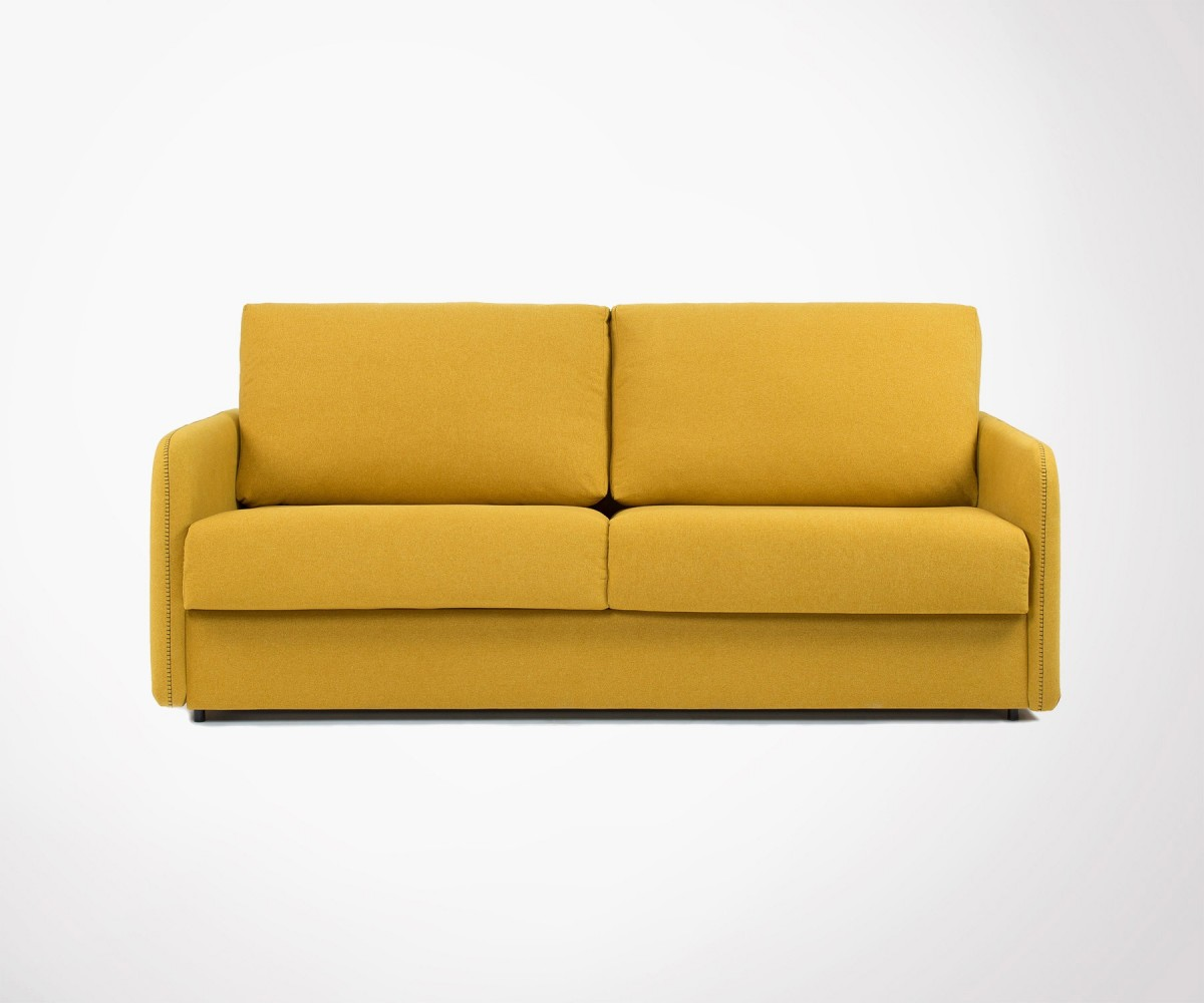 Visco fabric design sofa bed 160cm 3 colors in stock for Sofa contemporain design