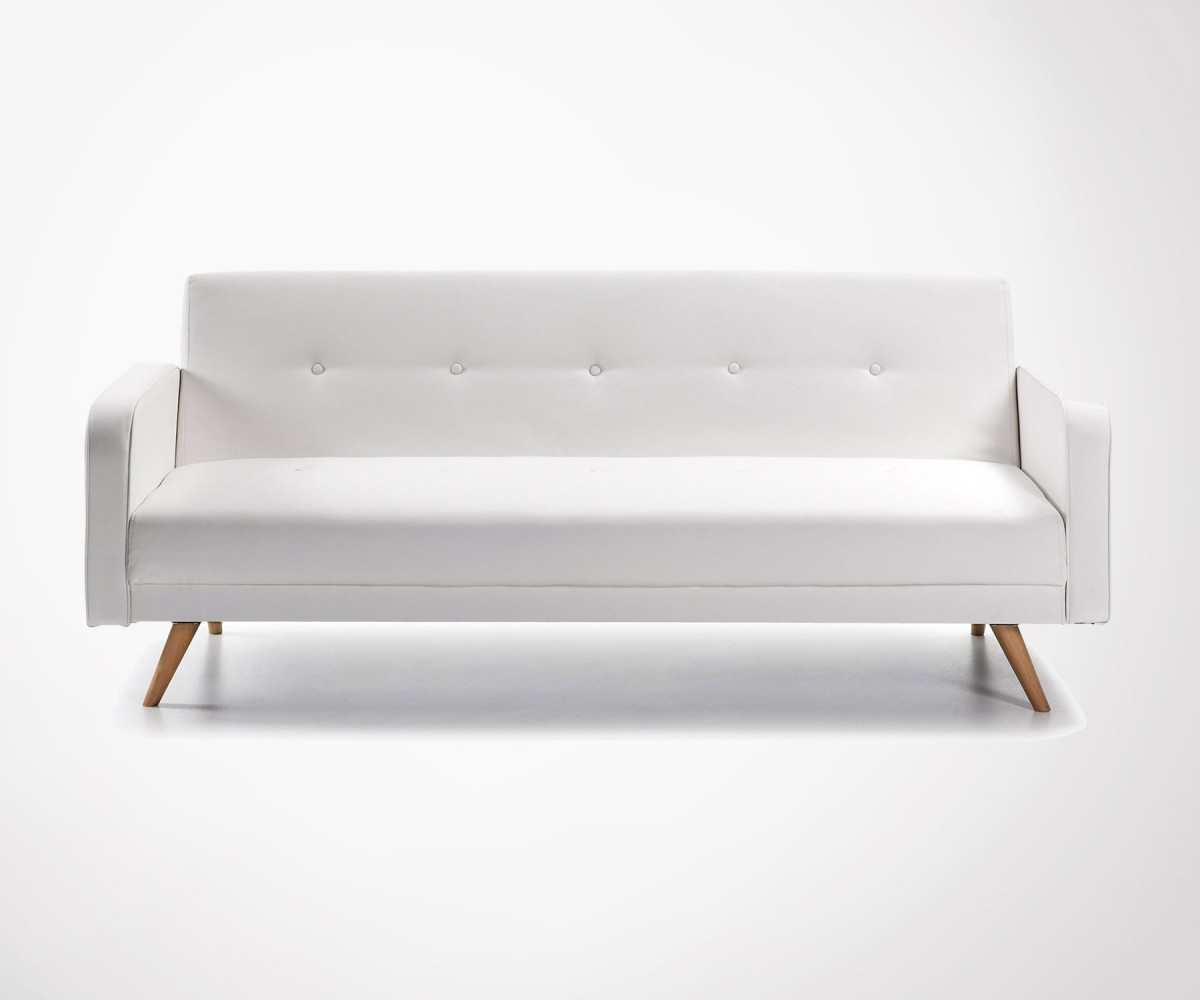 grand canap lit 2 places 210cm 2 couleurs style nordique. Black Bedroom Furniture Sets. Home Design Ideas