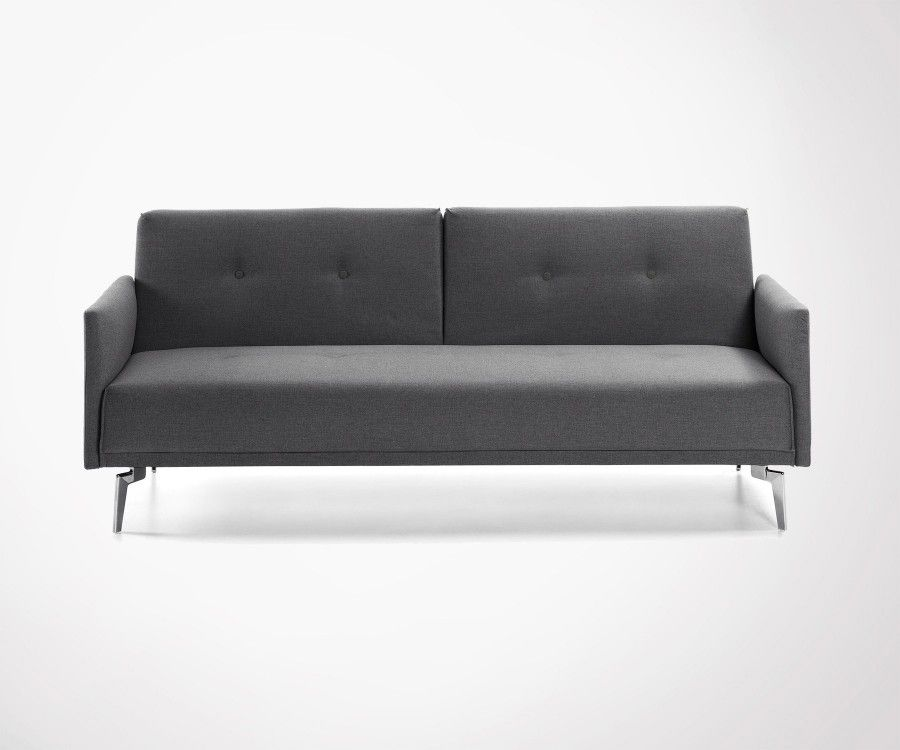 Divan Lit Design : Persons design sofa bed in mid grey fabric modern style must have