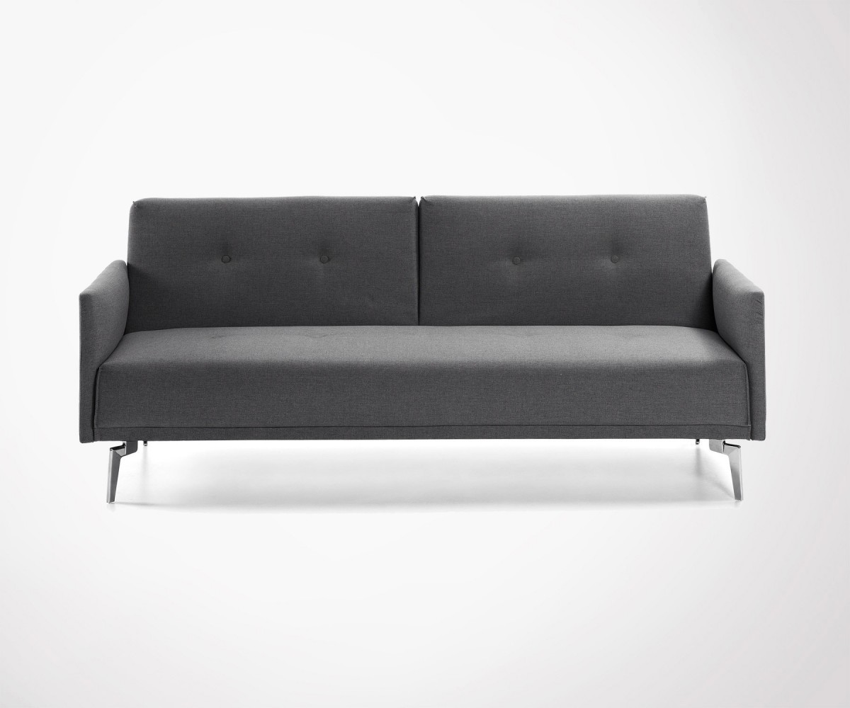 Persons Design Sofa Bed In Mid Grey Fabric Modern Style Must Have - Divan lit 2 personnes