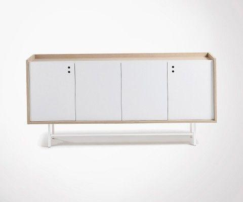 Buffet salon chêne naturel CHIBO - 170cm