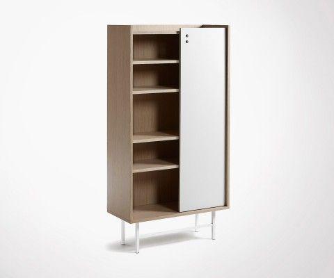 Armoire design chêne naturel CHIBO - 80x154cm