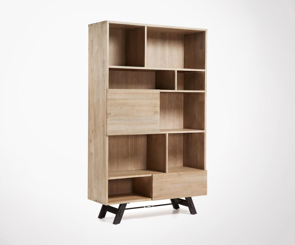 armoire 120x195 de rangement bois acacia - look naturel tendance
