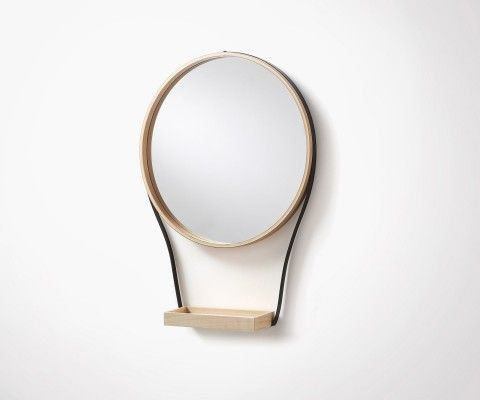 WARLOW hanging design mirror - 47cm
