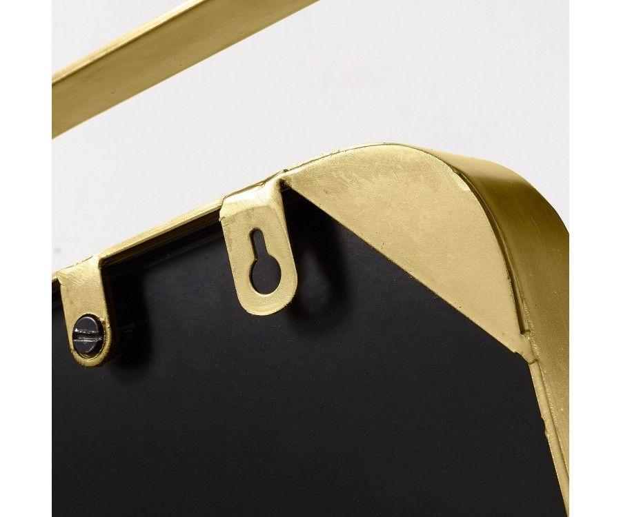 Petit miroir métal laiton doré WAROL - 31cm